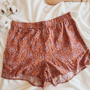 Madewell Drapery Pull On Cotton Short Warm Paisley